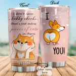 Personalized Corgi Dog I Don't Have Chubby Cheeked Stainless Steel Tumbler Perfect Gifts For Dog Lover Tumbler Cups For Coffee/Tea, Great Customized Gifts For Birthday Christmas Thanksgiving