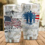 Personalized Us Army These Colors Don't Run Stainless Steel Tumbler Perfect Gifts For Us Army Tumbler Cups For Coffee/Tea, Great Customized Gifts For Birthday Christmas Thanksgiving