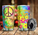 Hippie Symbol Don't Worry Be Hippie Stainless Steel Tumbler Perfect Gifts For Hippie Tumbler Cups For Coffee/Tea, Great Customized Gifts For Birthday Christmas Thanksgiving
