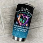 Butterfly I Just Wish You Were Here Stainless Steel Tumbler Perfect Gifts For Butterfly Lover Tumbler Cups For Coffee/Tea, Great Customized Gifts For Birthday Christmas Thanksgiving
