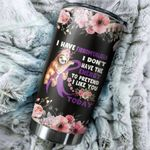 Fibromyalgia Sloth I Don't Have The Energy To Pretend Stainless Steel Tumbler Perfect Gifts For Fibromyalgia Tumbler Cups For Coffee/Tea, Great Customized Gifts For Birthday Christmas Thanksgiving