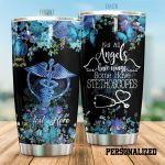 Personalized Nurse Not All Angels Have Wings Medical Symbol Flower Butterfly Stainless Steel Tumbler Perfect Gifts For Nurse Tumbler Cups For Coffee/Tea, Great Customized Gifts For Birthday Christmas Thanksgiving