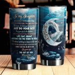 Personalized Dolphin To My Daughter From Mom Waiting For The Storm To Pass Stainless Steel Tumbler Perfect Gifts For Dolphin Lover Tumbler Cups For Coffee/Tea, Great Customized Gifts For Birthday Christmas Thanksgiving