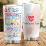 Personalized Nurse Reliable Sincere Loving Skilled Aesthetic Stainless Steel Tumbler Perfect Gifts For Nurse Tumbler Cups For Coffee/Tea, Great Customized Gifts For Birthday Christmas Thanksgiving