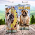 Bulldog Sunflower They Have Souls Stainless Steel Tumbler Perfect Gifts For Dog Lover Tumbler Cups For Coffee/Tea, Great Customized Gifts For Birthday Christmas Thanksgiving