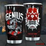 Personalized Bulldog Evil Genius Stainless Steel Tumbler Perfect Gifts For Dog Lover Tumbler Cups For Coffee/Tea, Great Customized Gifts For Birthday Christmas Thanksgiving