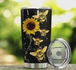 Bee Sunflower You Are My Sunshine Stainless Steel Tumbler, Tumbler Cups For Coffee/Tea, Great Customized Gifts For Birthday Christmas Thanksgiving
