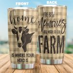 Heifer Home Is Where Your Herd Is Stainless Steel Tumbler Perfect Gifts For Heifer Lover Tumbler Cups For Coffee/Tea, Great Customized Gifts For Birthday Christmas Thanksgiving
