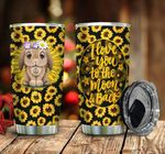 Bunny Sunflower Love You To The Moon Stainless Steel Tumbler Perfect Gifts For Rabbit Lover Tumbler Cups For Coffee/Tea, Great Customized Gifts For Birthday Christmas Thanksgiving