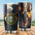 Us Army Bald Eagle Stainless Steel Tumbler Perfect Gifts For Soldier Tumbler Cups For Coffee/Tea, Great Customized Gifts For Birthday Christmas Thanksgiving Veteran's Day