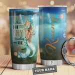 Personalized Mermaid Meet Me Where The Sky Touches The Sea Stainless Steel Tumbler, Tumbler Cups For Coffee/Tea, Great Customized Gifts For Birthday Christmas Thanksgiving