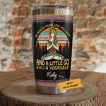 Personalized Hippie Girl I'm Mostly Peace Love And Light And A Little Go Fuck Yourself Stainless Steel Tumbler, Tumbler Cups For Coffee/Tea, Great Customized Gifts For Birthday Christmas Thanksgiving
