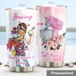 Personalized Baking Girl Because Murder Is Wrong Stainless Steel Tumbler Perfect Gifts For Baking Lover Tumbler Cups For Coffee/Tea, Great Customized Gifts For Birthday Christmas Thanksgiving