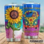 Personalized Hippie Sunflower A Dark Desert Highway Cool Wind In My Hair Stainless Steel Tumbler, Tumbler Cups For Coffee/Tea, Great Customized Gifts For Birthday Christmas Thanksgiving