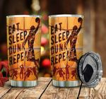 Basketball Player Eat Sleep Dunk Repeat Stainless Steel Tumbler Perfect Gifts For Basketball Lover Tumbler Cups For Coffee/Tea, Great Customized Gifts For Birthday Christmas Thanksgiving