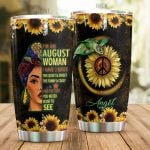 Personalized Black Women I Have 3 Sides Quiet And  Sweet Turtle Sunflower Stainless Steel Tumbler Perfect Gifts For Hippie Tumbler Cups For Coffee/Tea, Great Customized Gifts For Birthday Christmas Thanksgiving