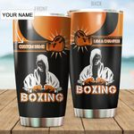 Personalized Boxing I Am A Champion Stainless Steel Tumbler Perfect Gifts For Boxing Lover Tumbler Cups For Coffee/Tea, Great Customized Gifts For Birthday Christmas Thanksgiving