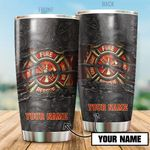 Personalized Firefighter Symbol Stainless Steel Tumbler Perfect Gifts For Firefighter Lover Tumbler Cups For Coffee/Tea, Great Customized Gifts For Birthday Christmas Thanksgiving
