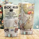 Books Helping Introverts Advoid Conversation Stainless Steel Tumbler Perfect Gifts For Books Lover Tumbler Cups For Coffee/Tea, Great Customized Gifts For Birthday Christmas Thanksgiving