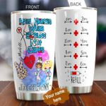 Personalized Nurse Real Heroes Wear Scrubs Stainless Steel Tumbler Perfect Gifts For Nurse Tumbler Cups For Coffee/Tea, Great Customized Gifts For Birthday Christmas Thanksgiving
