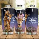 Personalized Giraffe Let Your Faith Be Taller Stainless Steel Tumbler Perfect Gifts For Giraffe Lover Tumbler Cups For Coffee/Tea, Great Customized Gifts For Birthday Christmas Thanksgiving