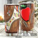 Personalized Teacher Every Little Thing Is Gonna Be Alright Stainless Steel Tumbler Perfect Gifts For Teacher Tumbler Cups For Coffee/Tea, Great Customized Gifts For Birthday Christmas Thanksgiving