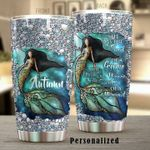 Personalized Mermaid The Heart Of A Hippie Stainless Steel Tumbler Perfect Gifts For Mermaid Lover Tumbler Cups For Coffee/Tea, Great Customized Gifts For Birthday Christmas Thanksgiving