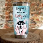 Happiness Is A Siberian Husky Smile Stainless Steel Tumbler, Tumbler Cups For Coffee/Tea, Great Customized Gifts For Birthday Christmas Thanksgiving