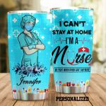Personalized Nurse We Fight When Other Can't Anymore Stainless Steel Tumbler Perfect Gifts For Nurse Tumbler Cups For Coffee/Tea, Great Customized Gifts For Birthday Christmas Thanksgiving
