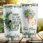 Personalized Garden Skullstainless Steel Tumbler Perfect Gifts For Garden Lover Tumbler Cups For Coffee/Tea, Great Customized Gifts For Birthday Christmas Thanksgiving