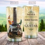 Horse Trainer With A Guitar Stainless Steel Tumbler Perfect Gifts For Horse Trainer Tumbler Cups For Coffee/Tea, Great Customized Gifts For Birthday Christmas Thanksgiving