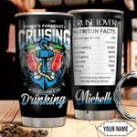 Personalized Cruise Ship Today's Forecast Cruising Stainless Steel Tumbler Perfect Gifts For Cruise Lover Tumbler Cups For Coffee/Tea, Great Customized Gifts For Birthday Christmas Thanksgiving