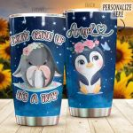 Personalized Penguin Don't Grow Up It's A Trap Stainless Steel Tumbler Perfect Gifts For Penguin Lover Tumbler Cups For Coffee/Tea, Great Customized Gifts For Birthday Christmas Thanksgiving