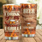 Personalized Beer Never Broke My Heart Steel Tumbler Perfect Gifts For Beer Lover Tumbler Cups For Coffee/Tea, Great Customized Gifts For Birthday Christmas Thanksgiving