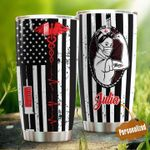 Personalized Nurse Medical Symbol American Flag Stainless Steel Tumbler Perfect Gifts For Nurse Tumbler Cups For Coffee/Tea, Great Customized Gifts For Birthday Christmas Thanksgiving