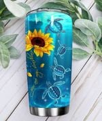 Turtle You Are My Sunshine Stainless Steel Tumbler Perfect Gifts For Turtle Lover Tumbler Cups For Coffee/Tea, Great Customized Gifts For Birthday Christmas Thanksgiving