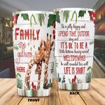Giraffe Family Gathered Here Stainless Steel Tumbler Perfect Gifts For Giraffe Lover Tumbler Cups For Coffee/Tea, Great Customized Gifts For Birthday Christmas Thanksgiving