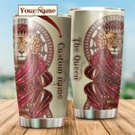 Personalized Lion The Queen Stainless Steel Tumbler Perfect Gifts For Lion Lover Tumbler Cups For Coffee/Tea, Great Customized Gifts For Birthday Christmas Thanksgiving
