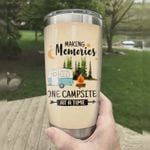 Personalized Making Memories One Campsite At A Time Stainless Steel Tumbler, Tumbler Cups For Coffee/Tea, Great Customized Gifts For Birthday Christmas Thanksgiving