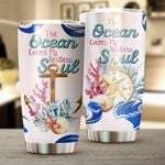 The Ocean Calms My Restless Soul Stainless Steel Tumbler Perfect Gifts For Ocean Lover Tumbler Cups For Coffee/Tea, Great Customized Gifts For Birthday Christmas Thanksgiving