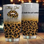 May Girl Hated By Many Loved By Plenty Leopard Pattern Stainless Steel Tumbler Perfect Gifts For Leopard Pattern Lover Tumbler Cups For Coffee/Tea, Great Customized Gifts For Birthday Christmas Thanksgiving