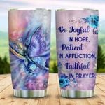Butterfly Be Joyful In Hope Stainless Steel Tumbler Perfect Gifts For Butterfly Lover Tumbler Cups For Coffee/Tea, Great Customized Gifts For Birthday Christmas Thanksgiving