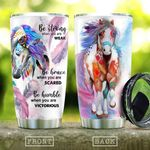 Native Horse Be Strong When You Are Weak Stainless Steel Tumbler Perfect Gifts For Horse Lover Tumbler Cups For Coffee/Tea, Great Customized Gifts For Birthday Christmas Thanksgiving