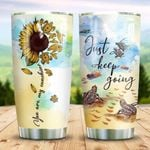 Turtle Just Keep Going Stainless Steel Tumbler Perfect Gifts For Turtle Lover Tumbler Cups For Coffee/Tea, Great Customized Gifts For Birthday Christmas Thanksgiving