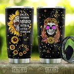 Skull Sunflower She Is Sunshine Stainless Steel Tumbler Perfect Gifts For Sunflower Lover Tumbler Cups For Coffee/Tea, Great Customized Gifts For Birthday Christmas Thanksgiving