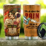 Tattoo Lover It's All About The Pain Stainless Steel Tumbler Perfect Gifts For Tattoo Lover Tumbler Cups For Coffee/Tea, Great Customized Gifts For Birthday Christmas Thanksgiving