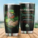 Irish Once Splash Of No One Cares Stainless Steel Tumbler Perfect Gifts For Irish Lover Tumbler Cups For Coffee/Tea, Great Customized Gifts For Birthday Christmas Thanksgiving