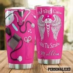 Personalized Nurse The Wings Came With The Scrubs Stainless Steel Tumbler, Tumbler Cups For Coffee/Tea, Great Customized Gifts For Birthday Christmas Thanksgiving