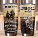 Personalized To My Wife From Husband God Blessed The Broken Road Stainless Steel Tumbler Perfect Gifts For Hunting Lover Tumbler Cups For Coffee/Tea, Great Customized Gifts For Birthday Christmas Thanksgiving Wedding Valentine's Day