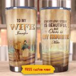 Personalized To My Wife From Husband Ours Is My Favorite Stainless Steel Tumbler Perfect Gifts For Family Tumbler Cups For Coffee/Tea, Great Customized Gifts For Birthday Christmas Thanksgiving Wedding Valentine's Day